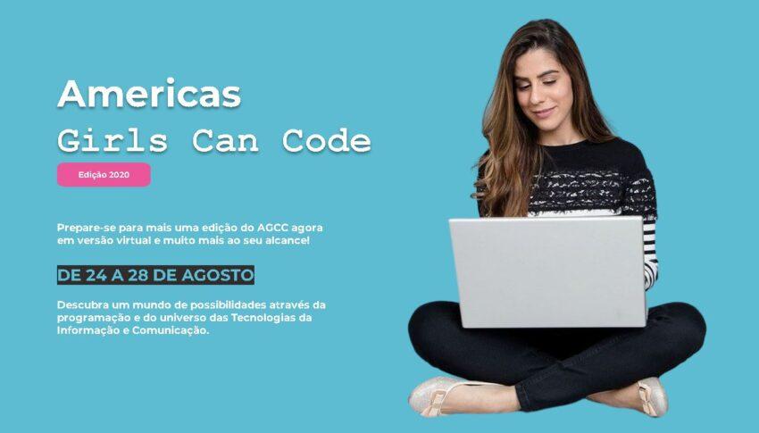 Americas Girls Can Code 2020 será de 24 a 28 de agosto