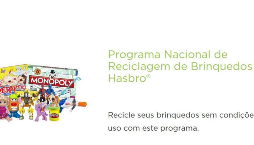 Hasbro lança programa gratuito para reciclagem de brinquedos em parceria com Terracycle.
